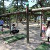 福井県敦賀市の名所「気比の松原」。子供が遊べる遊具もありました。