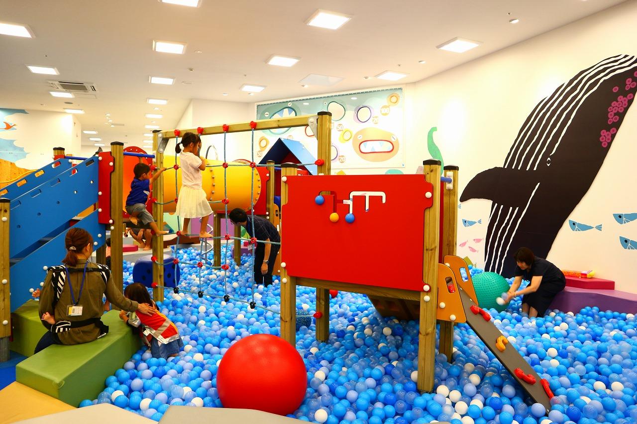 イオンモール各務原の子供の遊び場「ボーネルンドあそびのせかい」と