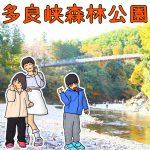 岐阜県大垣市の子供の遊び場「多良峡森林公園」|吊り橋や紅葉や川遊びも