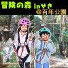 5歳と7歳の子供と百年公園の空中アスレチック「冒険の森」に挑戦!全てのコースを写真で紹介します!|岐阜県関市